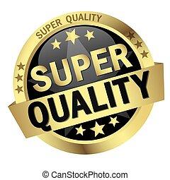 minőség, gombol, transzparens, szuper