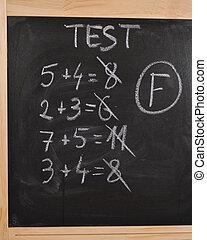 minősít, teszt, matek, f
