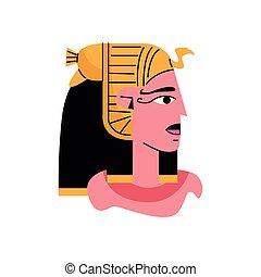min Egyptian god character isolated icon vector illustration...