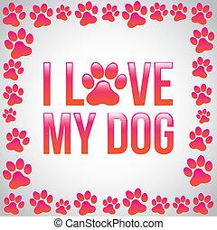 min, kärlek, hund