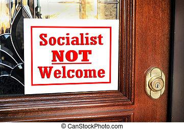 min, socialist, home., nej