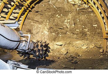 mina de carbón, excavador