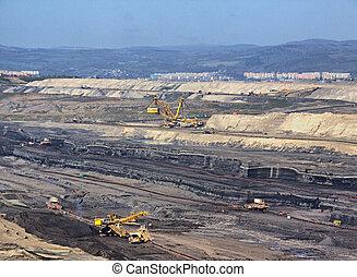 mina de carbón, tira