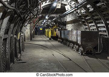 mina de carbón, transportador