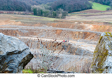 mina de mina a cielo abierto, piedra caliza, cantera