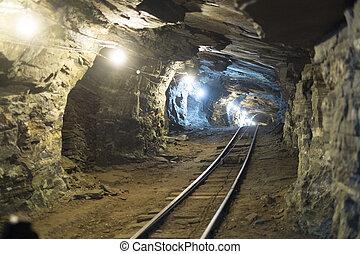mina ouro, túneis