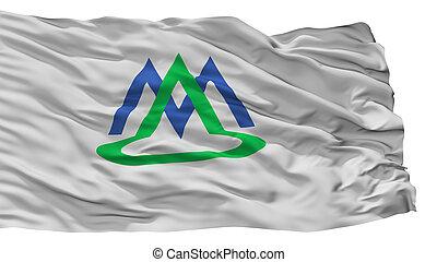 Minamialps City Flag, Japan, Yamanashi Prefecture, Isolated ...
