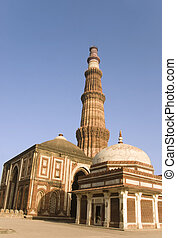 minar, indien, delhi, -, qutab