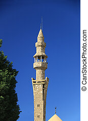 Minaret - A minaret of a mosque in the city of Jbeil,...