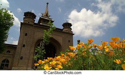 Minaret and wall of Jamia Masjid, Srinagar - Medium...
