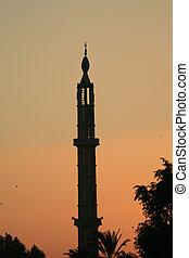 Minaret at sunset 4