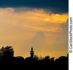 Minaret at Sunset