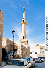 minaret in jordanian town Kerak
