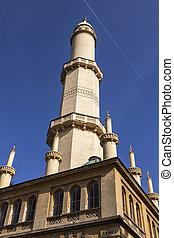 Minaret in Lednice. Lednice, South Moravia, Czech Republic.