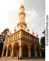Minaret in Lednice park, Lednice-Valtice Cultural Landscape, Czech Republic