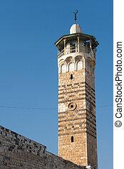 Minaret in the mosque of Hama