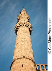 Minaret  - minaret on the sky background
