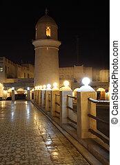 Minaret of a mosque in Doha, Qatar