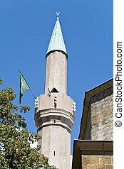 Minaret of mosque in Belgrade