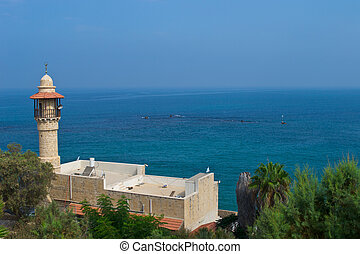 Minaret of mosque in Jaffa