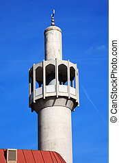 London Central Mosque - Minaret of the London Central Mosque...