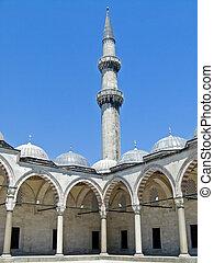 Minaret - Tall minaret on a mosque