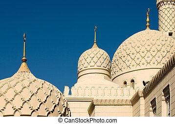 minareto, moschea, dubai