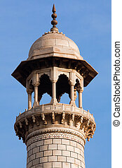 minarett, von, taj mahal, agra, uttar pradesh, in, indien