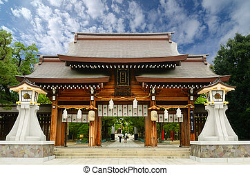 Minatogawa Shrine in Kobe, Japan.