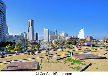 Minatomirai Yokohama. Photograph was taken in the town in...