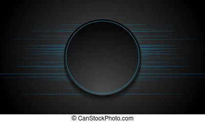 mince, bleu, résumé, mouvement, lignes, futuriste, fond, technologie