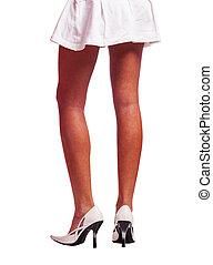 mince, femme, jambes