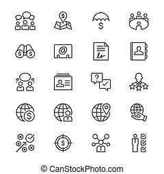 mince, icones affaires