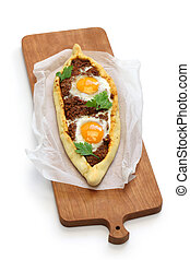 mince meat pide, turkish pizza - mince meat pide, ...