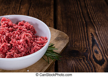 Minced Beef - Minced Meat (Beef) as detailed close-up shot...