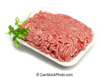 Minced meat - Fresh minced beef isolated on white background