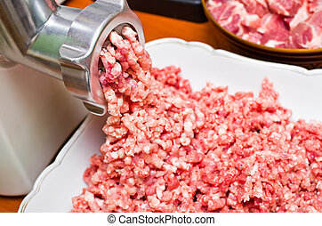 Minced meat preparation - Fresh raw minced meat preparation