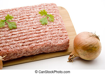 Minced meat with onion