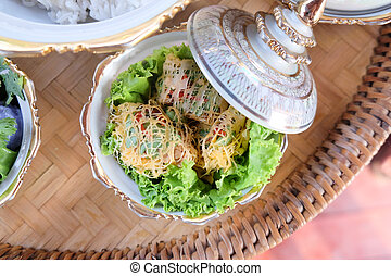 Minced Pork and Shrimp wrapped in Egg-net