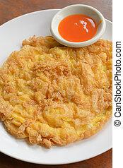 Minced pork omelet