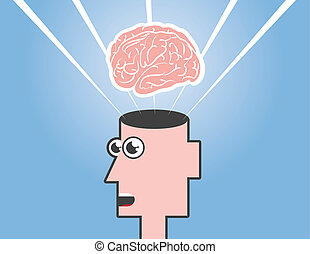 Mind Blown - Mind blown floating above an open head