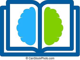 Mind Book Logo Icon Design