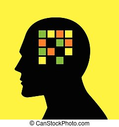 Mind concept graphic for memory loss or amnesia