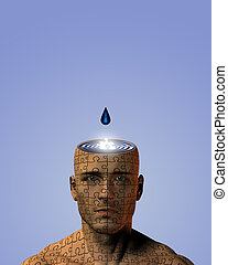 Mind Drip - Open mind on puzzle man