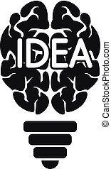 Mind idea logo, simple style