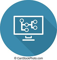 Mind Map Icon. Business Concept.