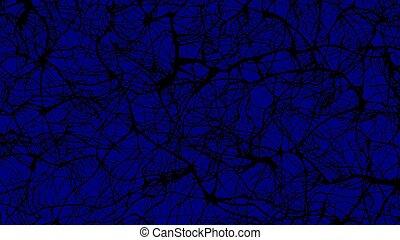mind maze blue background