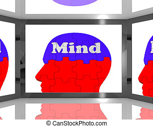 Mind On Brain On Screen Showing Human Capacities
