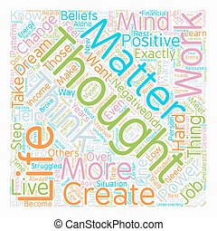 Mind Over Matter The Power Of Thoughts text background wordcloud concept