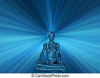 Mind Power Technology Human Meditate